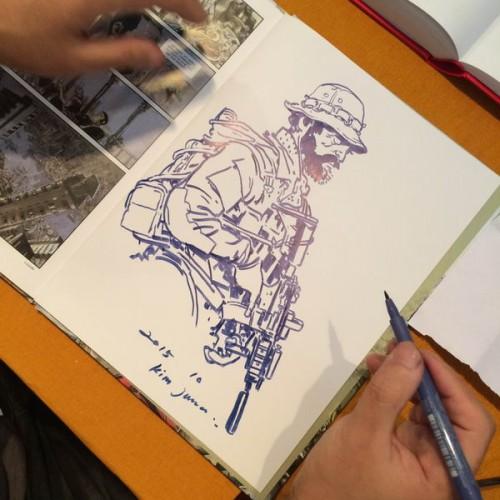 033 - Kim Jung Gi sketch dédicace