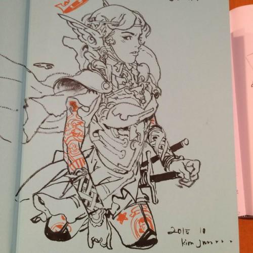 044 - Kim Jung Gi sketch dédicace