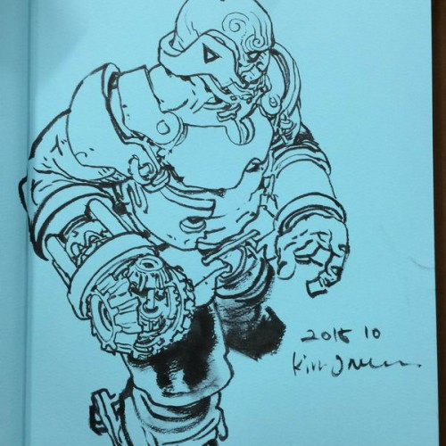 055 - Kim Jung Gi sketch dédicace