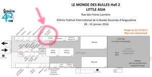 2016_Le Monde des Bulles Hall 2_Little Asia_Plan