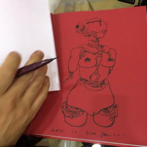 021 - Kim Jung Gi sketch dédicace