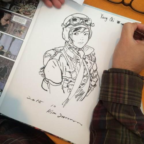 035 - Kim Jung Gi sketch dédicace