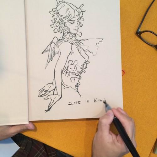 043 - Kim Jung Gi sketch dédicace